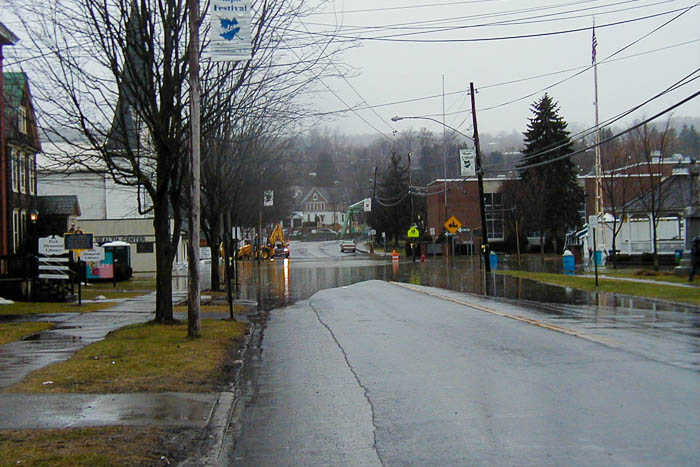 Moderate street flooding