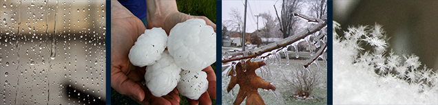 photos of rain, hail, ice and snow
